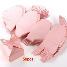 50XButterfly Decoration Boite a Dragees Wedding Decoration Baptism Birth Rose ED