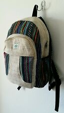 HB HEMP BAG PURSE NEPAL : Handmade Hippie Multi-color Unisex Organic Backpack