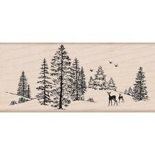 Hero Arts Mounted Rubber Stamp *Winter Scene*  129118