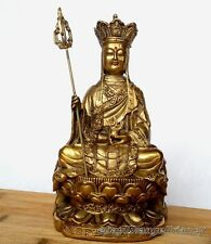 Chinese Chinese Folk temple ancient Style Ksitigarbha Bodhisattva Old statue