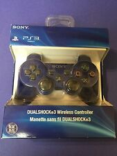 Official Dualshock 3 Wireless Controller *Metallic BLUE* for PS3 by Sony NEW
