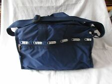 "LeSportSac CrossBody Shoulder Bag Navy Blue NYLON Everyday Messenger 16"" MINT"