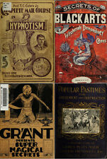 40 RARE BOOKS ON MAGIC, CONJURING, GAMBLING, HYPNOSES, WITCHCRAFT, OCCULT ON DVD