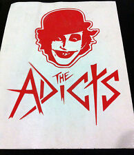 THE ADICTS Red Face and Logo RUB-ON car window STICKER NEW OFFICIAL MERCHANDISE