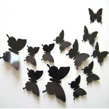 12PC 3D DIY Butterfly Wall Stickers Art Design Decal Room Home D¨¦cor Black us