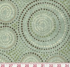 Bryant Enterprise Spa Indoor Outdoor Green Brown Dots Upholstery Fabric BTY
