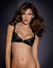 Agent Provocateur KAREN BRA in BLACK SATIN & FRENCH LACE - 32DD - BNWT