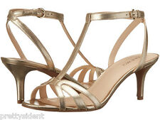 BNIB Nine West Gissella Gold Sandals Heels $79 ~ US 7.5