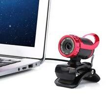 Red USB 12 Megapixel HD Camera Web Cam 360° MIC Clip-on for Computer Laptop PC