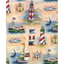 BOAT & LIGHTHOUSE GIFT WRAPPING PAPER -Large 30' Roll