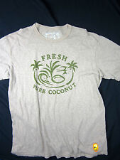 Quiksilver Premium fit Field collection surf coconut men's T-shirt size MEDIUM