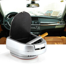 LED Light Portable Car Travel Auto Office Home Cigarette Ashtray Holder Cup Case