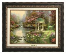 Thomas Kinkade - Garden Of Prayer – Canvas Classic (Aged Bronze Frame)