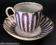 Incredible 18th Century Royal Crown Derby Cobalt Blue Gold Cup and Saucer