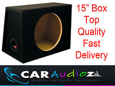 "15"" Inch 38cm Single Sealed Black Carpeted Car Subwoofer MDF Box Bass Enclosure!"