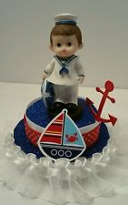 NAUTICAL SAILOR BOY BABY SHOWER BIRTHDAY CAKE TOPPER DECORATION