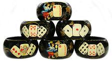 Six Ronds Serviettes - Jeux de Cartes Artisanat russe Six Ronds Serviettes