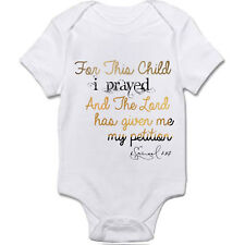 For This Child I Prayed Christian Onesie 6 months