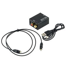 Digital Optical Coaxial Toslink Signal to Analog Audio Converter Adapter RCA CY