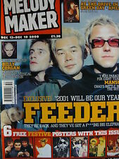 MELODY MAKER 13/12/00 - FEEDER - SMASHING PUMPKINS - MANSUN