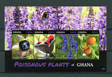 GHANA 2016 Gomma integra, non linguellato piante velenose 4v M/S aconito STRICNINA ALBERO ALBERI FRANCOBOLLI