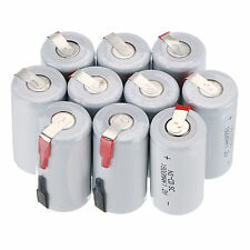 12 X Ni-Cd 1800mAh 1.2V  Sub C SC Rechargeable Battery NiCd Batteries -White