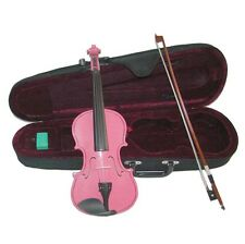 NEW 3/4 Size HOT PINK VIOLIN & BOW,CASE~ACOUSTIC STUDENT BEGINNER SCHOOL GIFT
