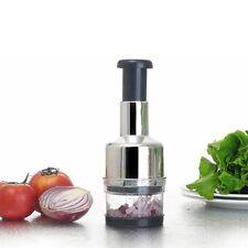 Pressing Kitchen Stainless Vegetable Garlic Onion Slicer Chopper Cutter XC