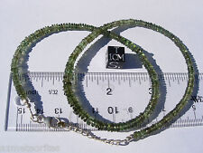61.1 carats of checkered cut beads 4.5mm x 1.5mm MOLDAVITE necklace 18 inches