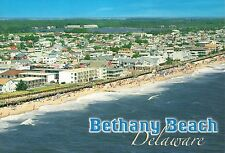 Aerial View of Bethany Beach Delaware, Swimming Hotels & Rentals, Ocean Postcard