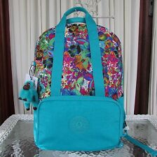 Kipling Pippin Backpack Aloha Grove Turquoise Laptop Protection BP4127 NWT $134