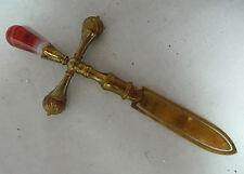 Antique Brass & Agate Bookmark 12cm x 5cm A601117