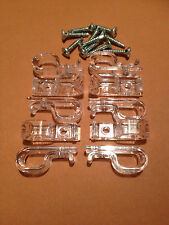"10 x Child Safety Clear""P""Clip/Cleat for Roller,Vertical,Roman Blind Chain/cord,"
