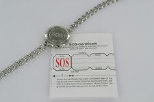 SOS BRACELET/MEDICAL ALERT/BANGLE/STAINLESS STEEL/EMERGENCY LADIES/MENS TALISMAN