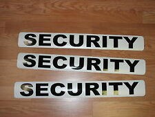 "3 SECURITY Magnetic Signs 3""x24"" Police Constable Sheriff Pair+1 4 Car Truck SUV"