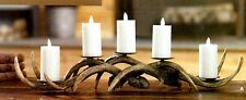 """Cabin LODGE 24"""" Brown ANTLER CANDLE HOLDER 3607018 Raz Imports Christmas NEW"""