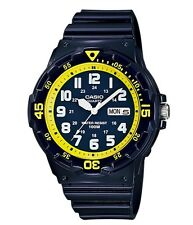 Casio Watch * MRW200HC-2BV Diver Look 100WR Yellow and Blue Resin COD PayPal