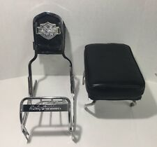 Sissy Bar and Bracket With Leather Seats For Harley Davidson Shovelhead !