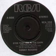 """[BEE GEES] KENNY ROGERS ~ EYES THAT SEE IN THE DARK ~ 1983 UK 7"""" SINGLE"""