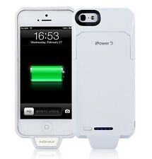 Momax iPower 5 2250mAh Extended Battery Charging Case for Apple iPhone 5 - White