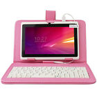 """7"""" Google Android 4.4 Tablet PC HD Quad Core+Keyboard Case Bundle US STOCK WHITE"""