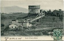 1905 Roma - Veduta della Tomba di Cecilia Metella, campagna - FP B/N VG