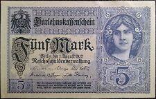 Germany reichbanknote - 5 funf mark - year 1917 - Darlehnskassenschein