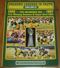 Green Bay Packers Legends In Facts Vol 2 1992-1997 NFL Football Book