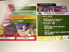 GORILLAZ CONCERT PARIS!!!!!RARE FRENCH PRESS/KIT