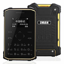 IP67 Waterproof  Shockproof Rugged Ultra Thin Mini Pocket Card Mobile Cell Phone