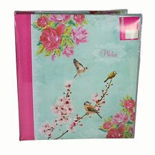 """Bird Flower"" Design Photo Album PINK Birthday 104 Photos 5 x 7"