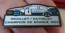 BEAU PIN'S VOITURE RALLYE FORD SIERRA RS COSWORTH CHAMPION DE FRANCE  1988