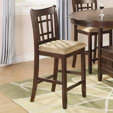 Wheat Back Counter Height Chair in a Brown Cherry by Coaster 100889N - Set of 2