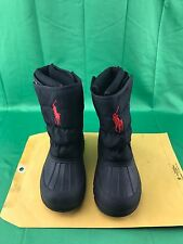 Polo Ralph Lauren Winter Games Ez Weather Waterproof Navy Boots Big Kids Sz 13